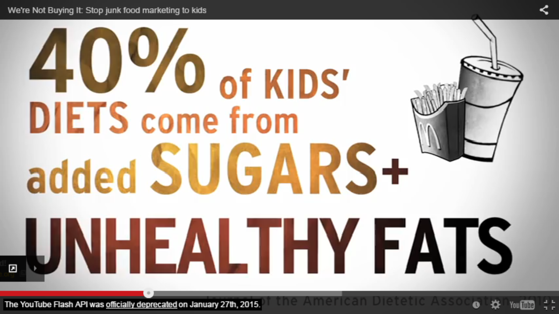 An image from We're Not Buying it: Stop junk food marketing to kids.  Credit