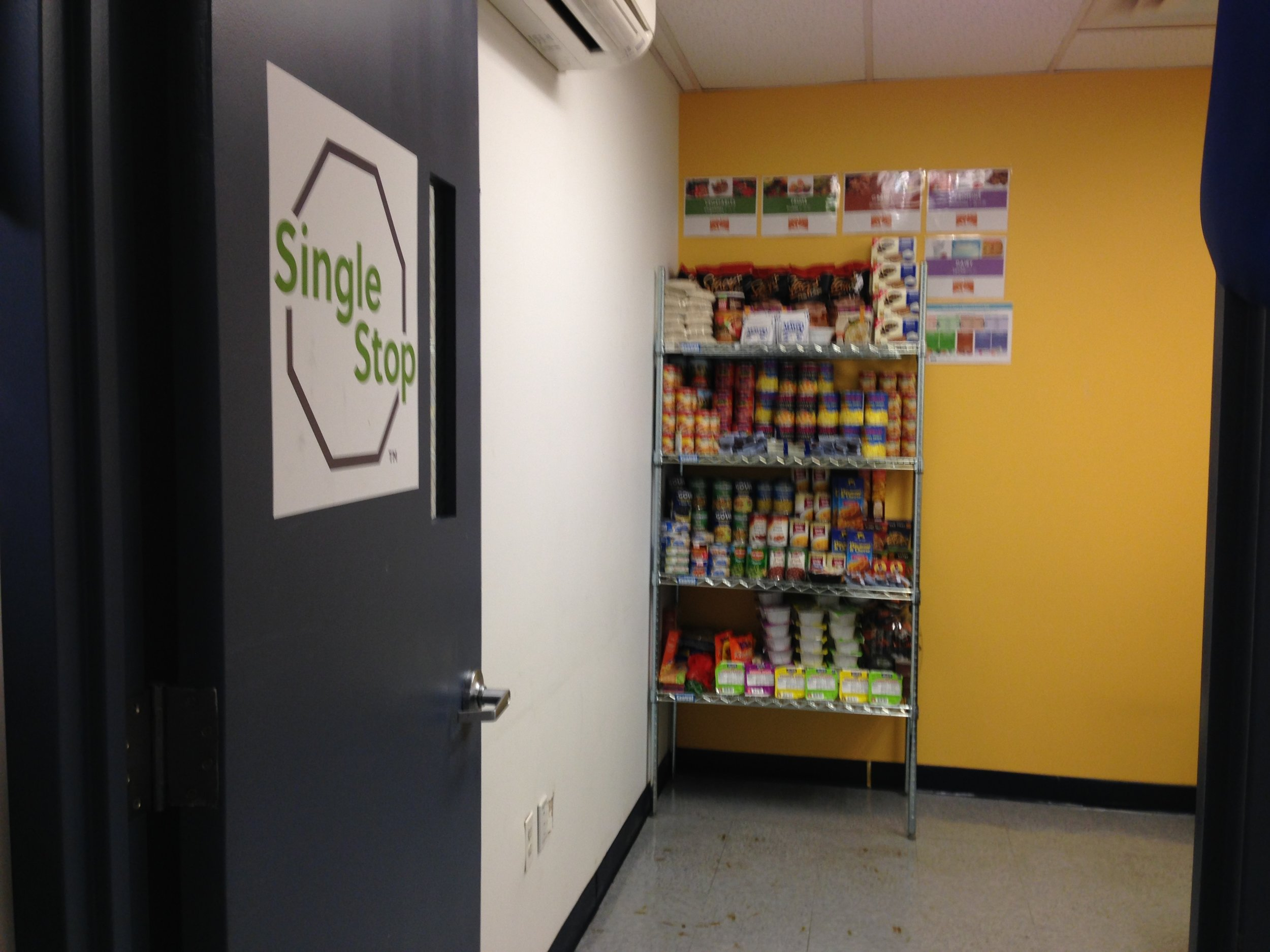 A new food pantry located at Guttman Community College