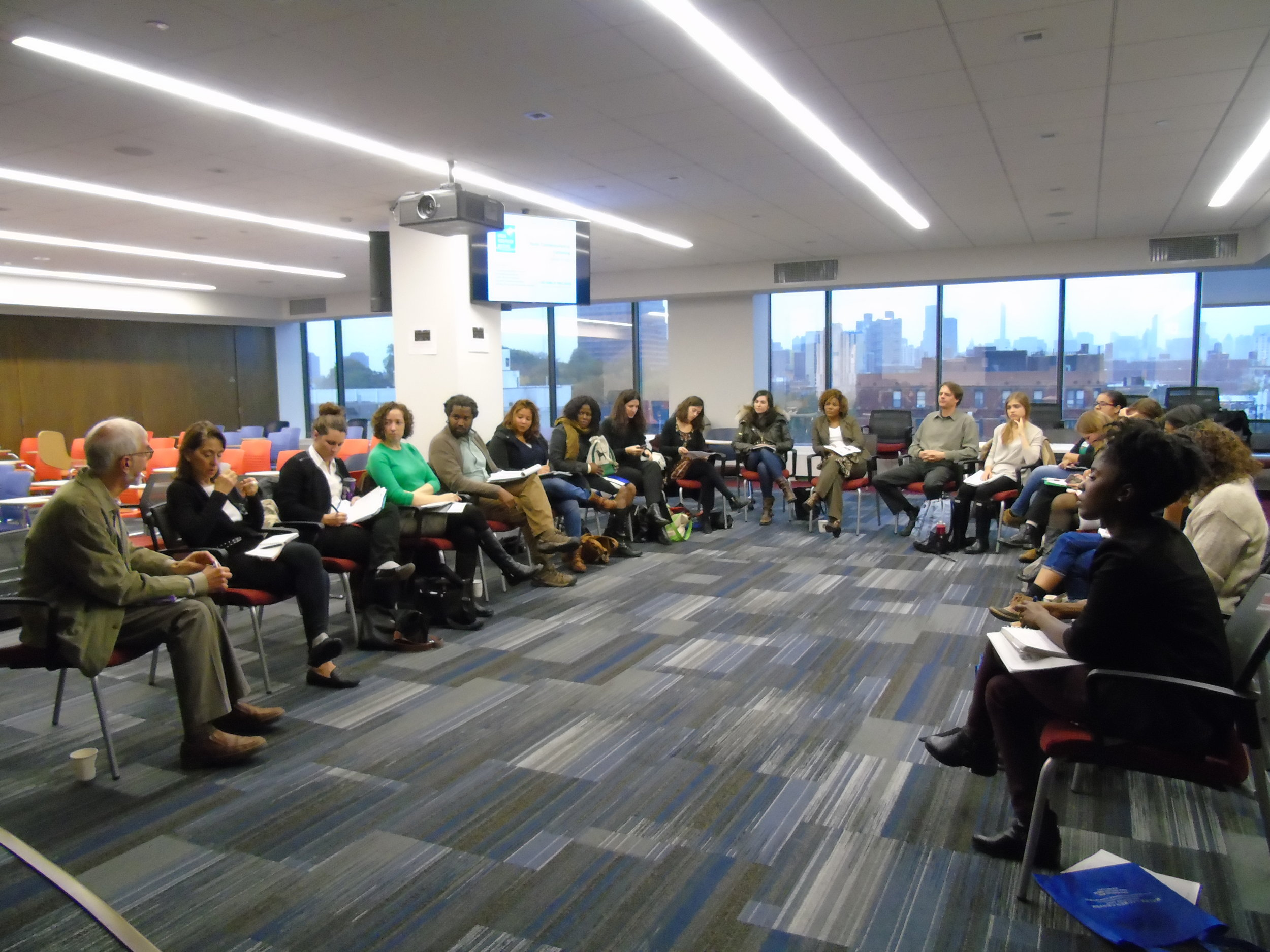 Participants discuss possible countermarketing collaborations.