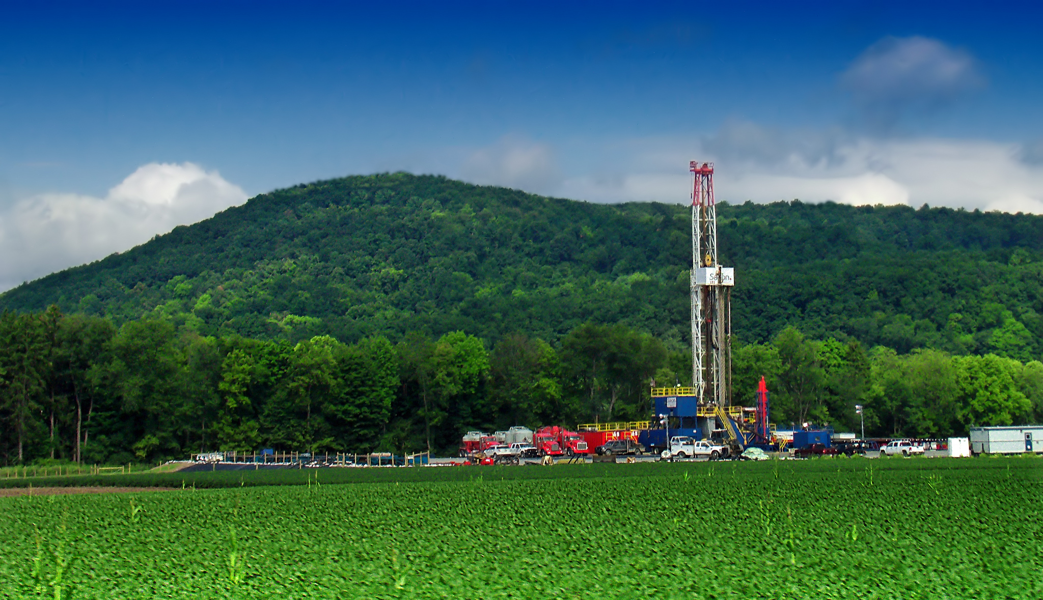 Marcellus shale gas-drilling site in Lycoming County, PA.  Credit