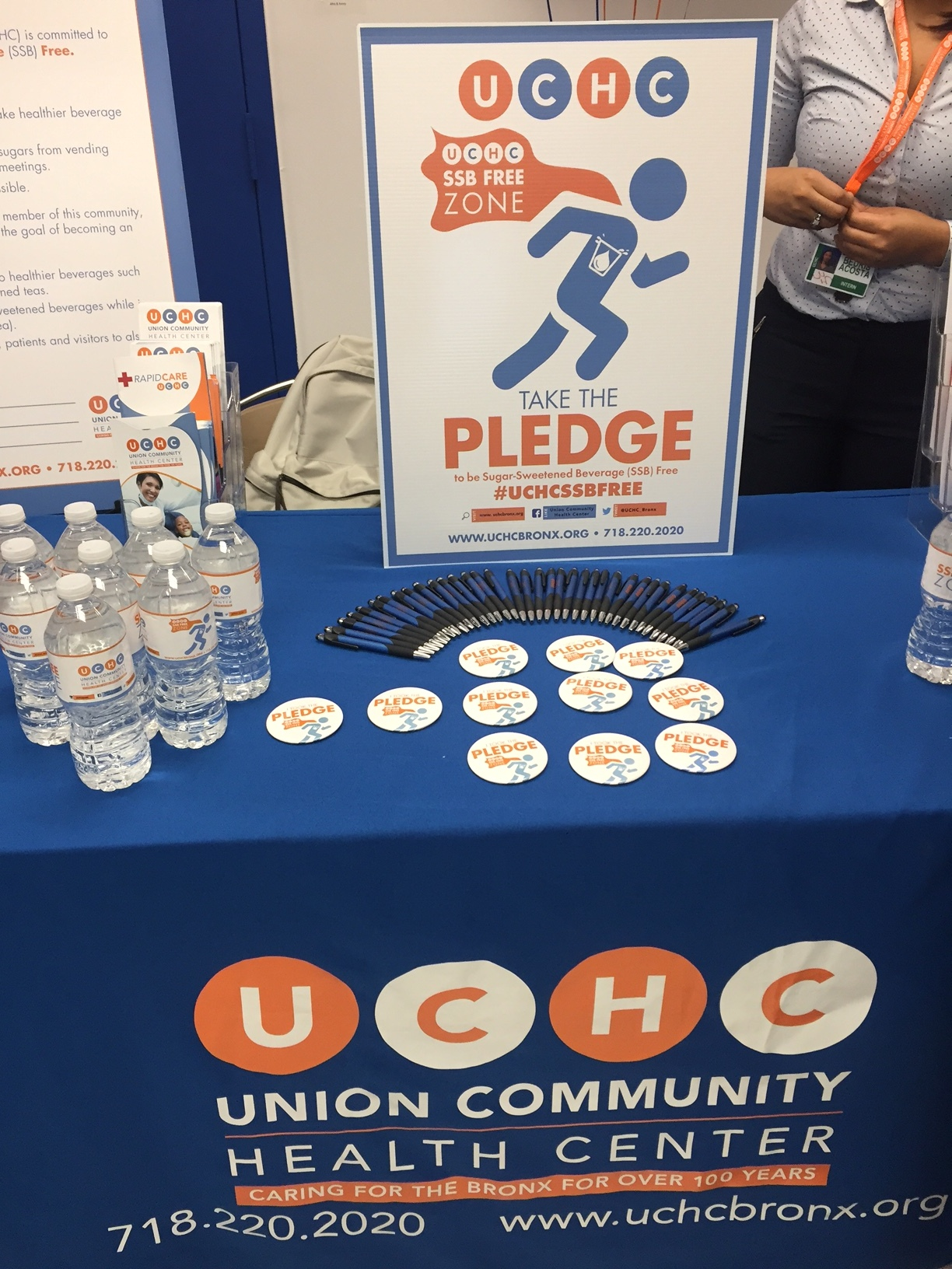 Union Health Community Center invites other organizations to take the pledge for a Healthy Beverage Zone.