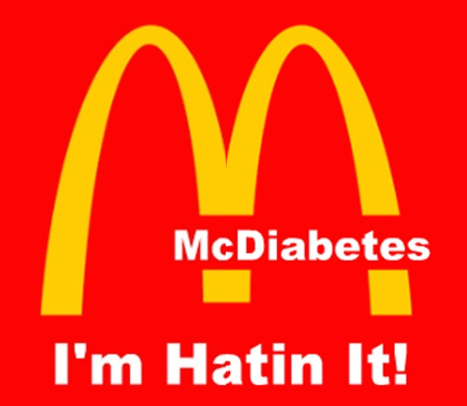 Countermarketing image developed by student in the Youth Food Educators Program targeting McDonald's.