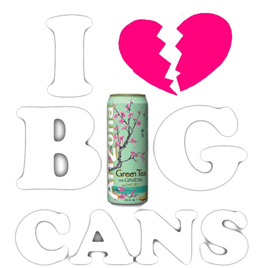 Image developed by Youth Food Educators student targeting AriZona beverages.
