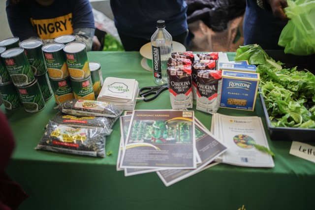 Figure 5. Some of the items given away at the April 19th event. Hosted by the Food Studies Club, four additional food pantry events followed thereafter.