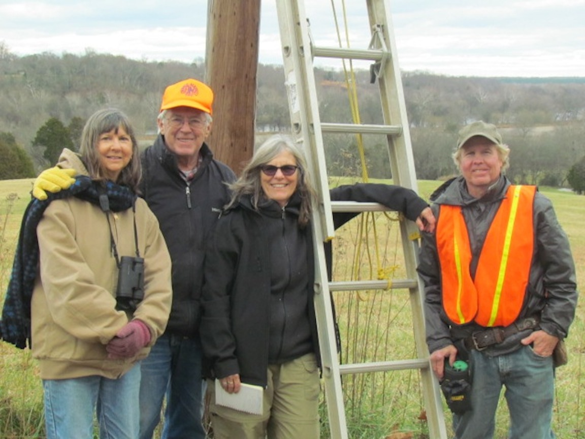 The Kestrel Team (L to R): Mary Ames, David White, Patti Reum, Dan Bieker