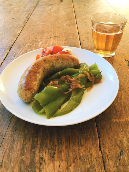 ITALIAN SAUSAGES AND GREEN PEPPERS