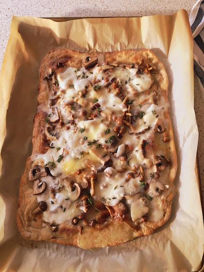 THREE CHEESE WILD MUSHROOM PIZZA