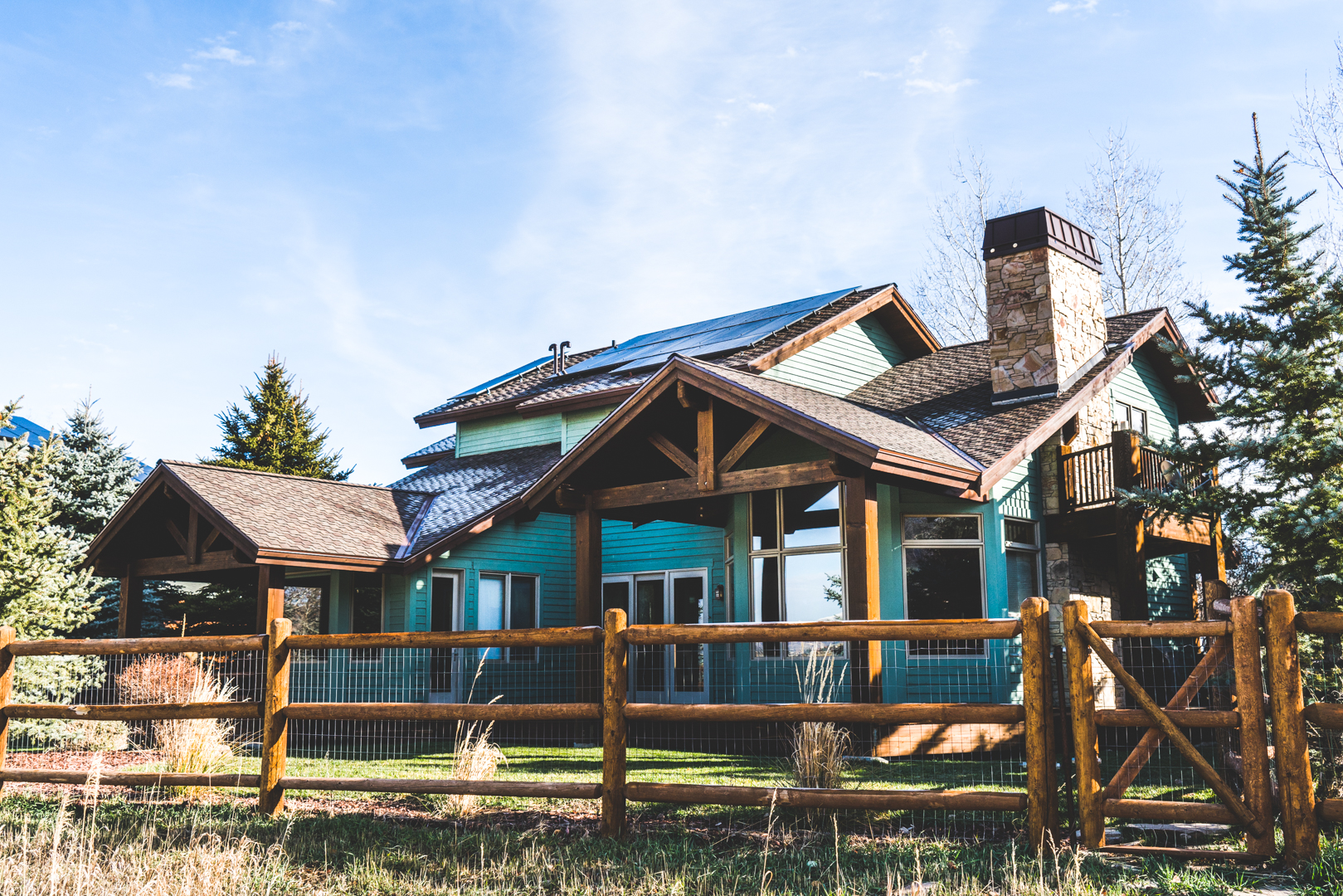 A photo of a Solar PV system installed in Park City, Utah in 2016