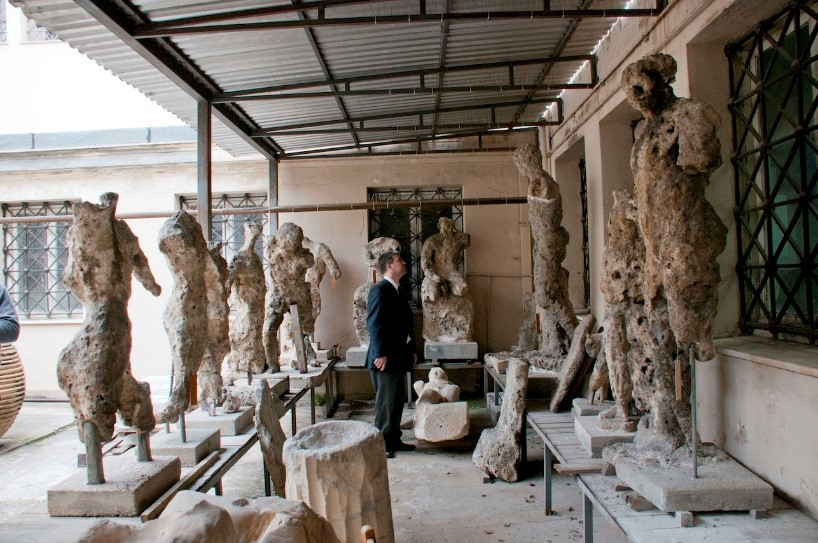 Damaged sculptures. Photo credit Brendan Foley