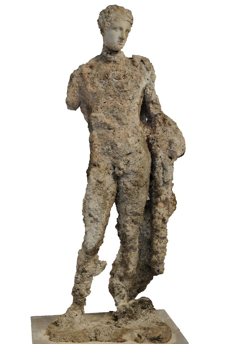 Ancient statue found on the Antikythera wreck modeled with Autodesk ReMake.