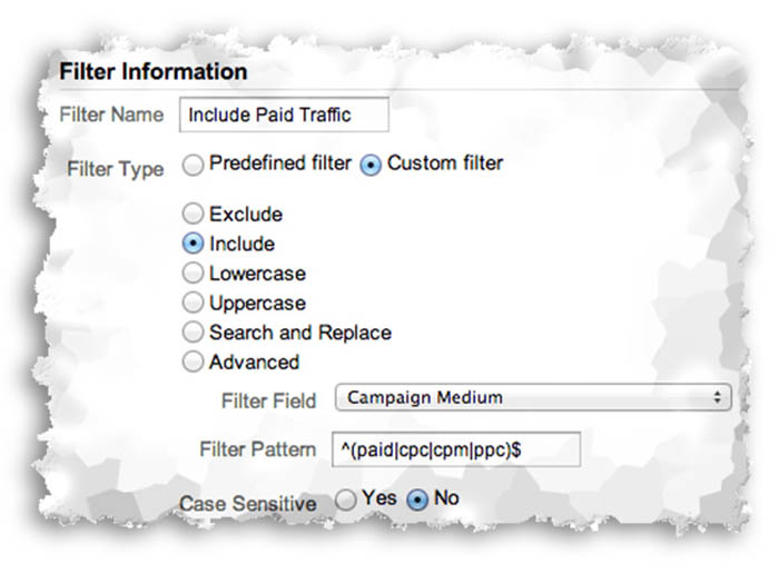 Include Paid Traffic Only in Google Analytics