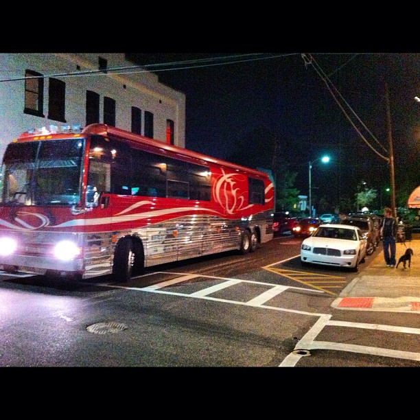 Rollin dirty in the Prevost at Old Miss in Oxford, Mississippi with @rayjohnstonband
