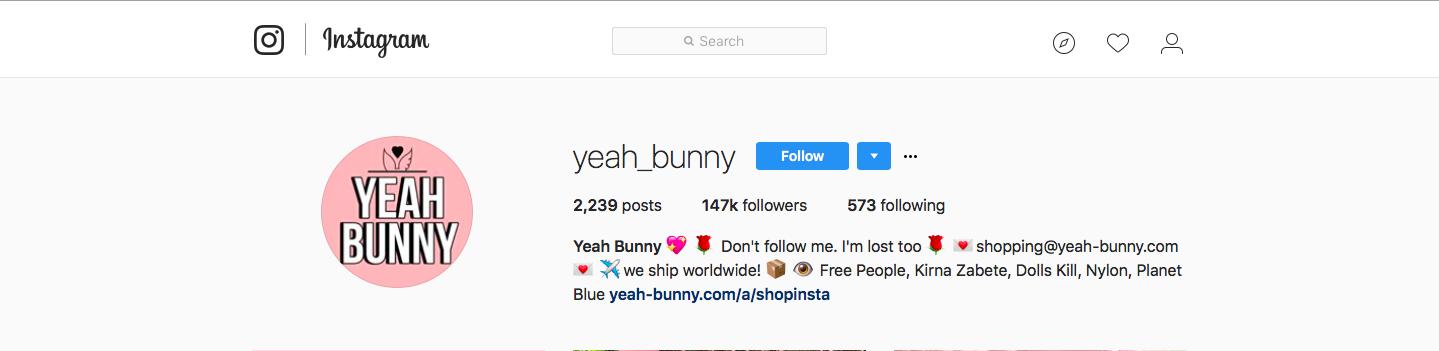 Yeah Bunny Instagram