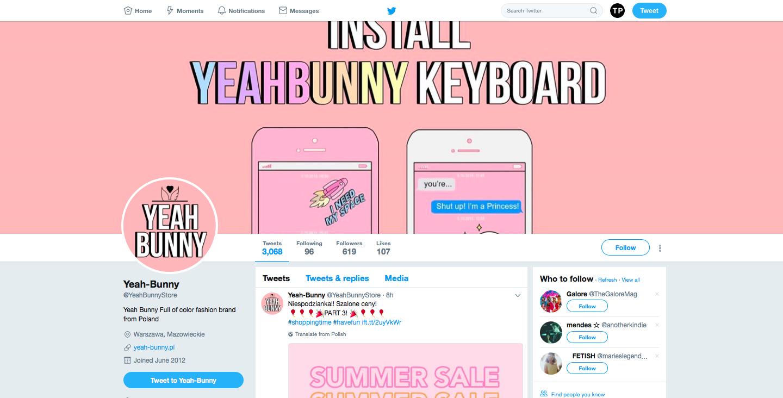 Yeah Bunny Twitter