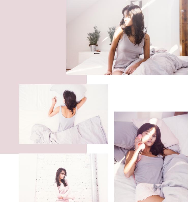 Hibou Sleepware  perfect the art of the lookbook.