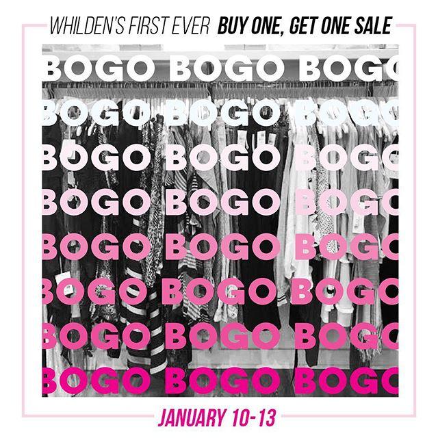 Last Day to BOGO!  Open 12-5!#bogo#sale#wearingwhilden