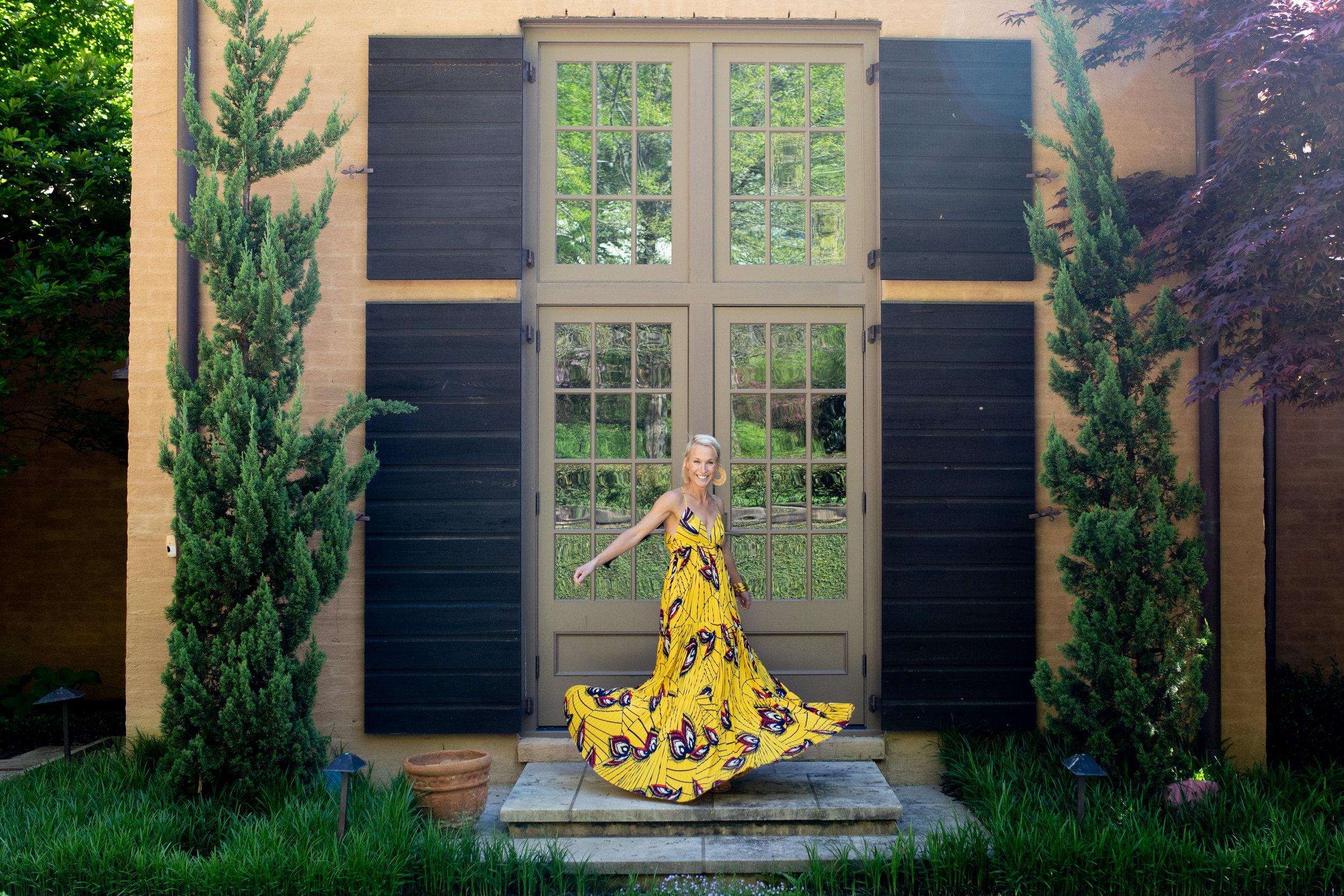 Wearing Weave Dress by BA&SH
