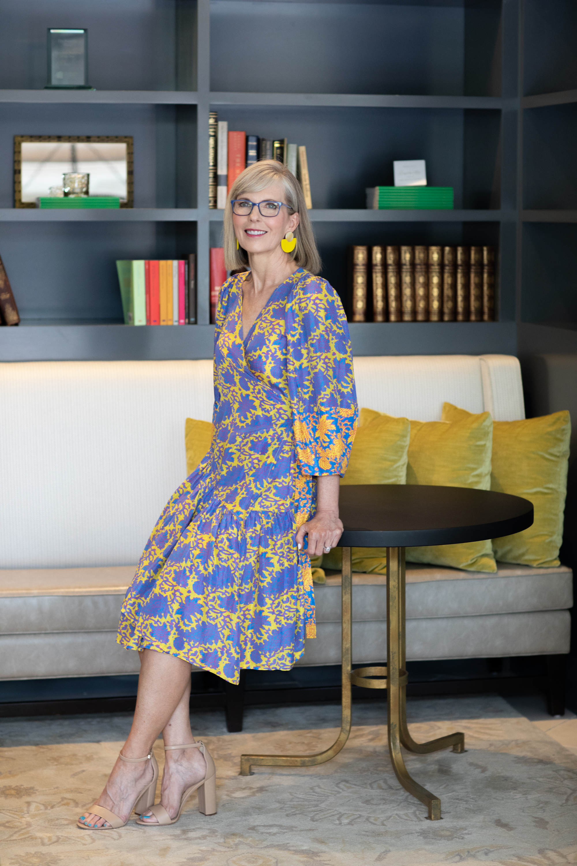 Dress by Apiece Apart and Earrings by Sunshine Tienda