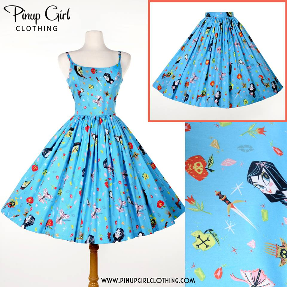 Jenny Dress in Snow White Print  and  Jenny Skirt in Snow White Print