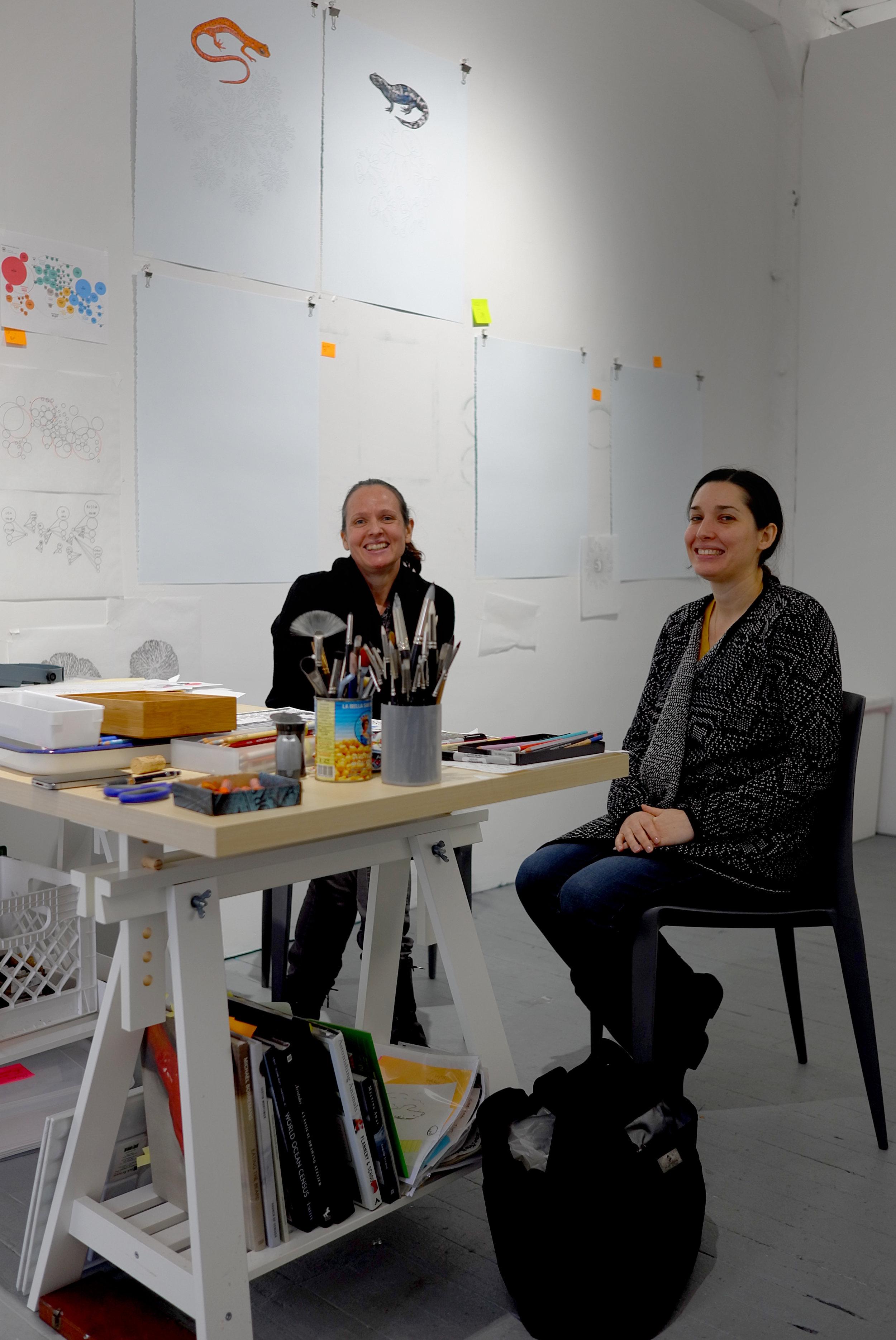 Studio visit, January 2017