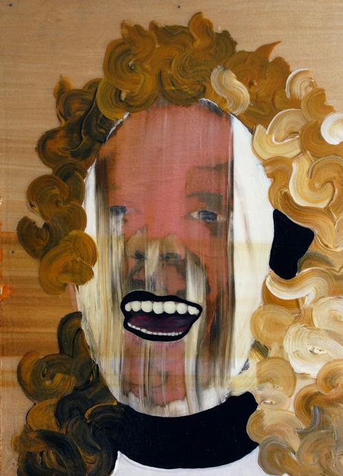 "2014  Acrylic paint on panel  15""x11""x1"""