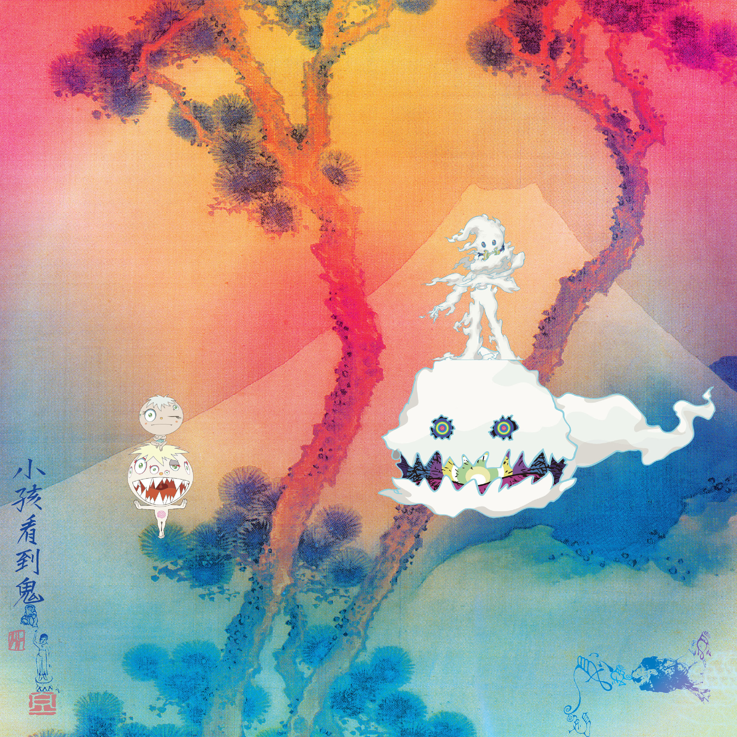 Kanye West  &  Kid Cudi  Face Life Introspectively With   KIDS SEE GHOSTS
