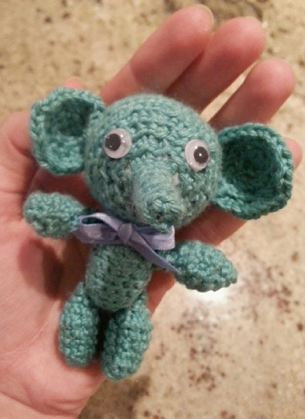 My second amigurumi, a pattern from the same book.