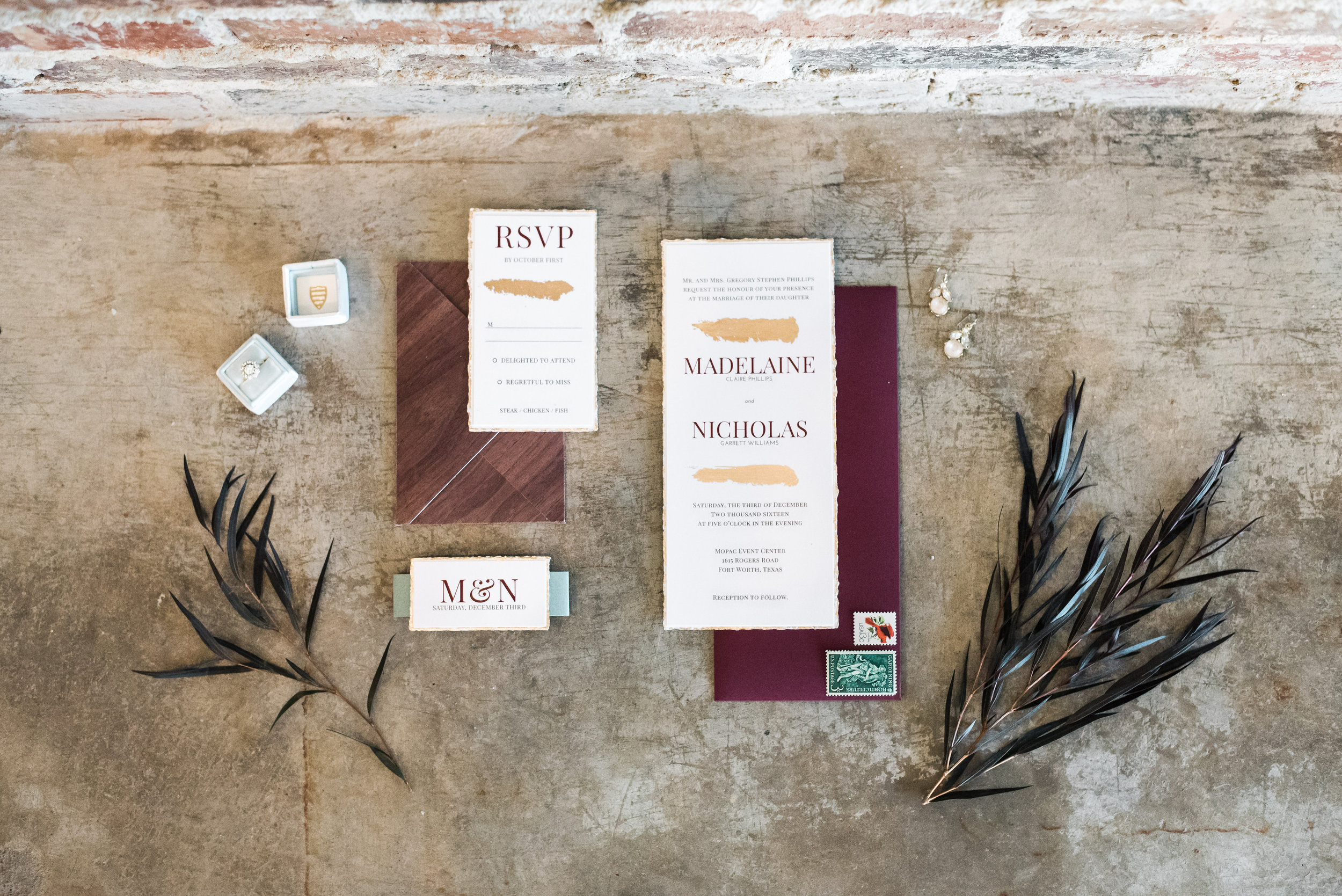 Earthy Romance Wedding Suite | Hands of Hollis | Wedding Stationery Designer | Dallas, TX