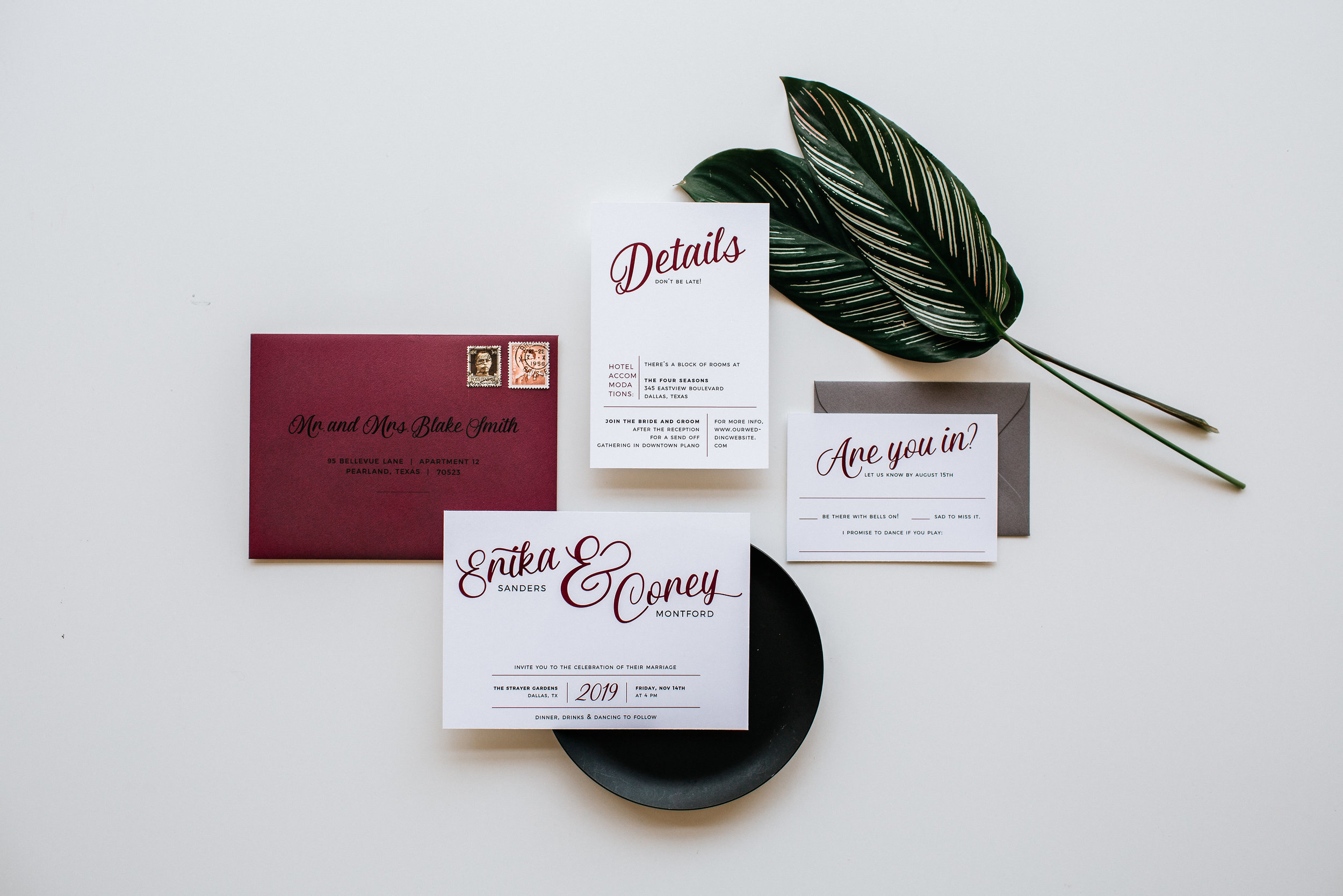 8 Ways to jazz up your invitations for custom weddings from Hands of Hollis in Dallas, Texas