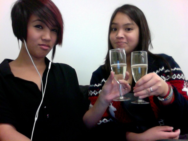 Oh, you know. Just poppin' bottles and drinking champagne at the office with  Paulina . Keepin' it real.