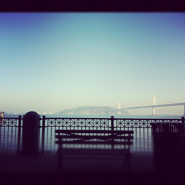 One of the perks of working in SF: having lunch at the Ferry Building with a view of the Bay Bridge (Taken with   Instagram   at Ferry Building)