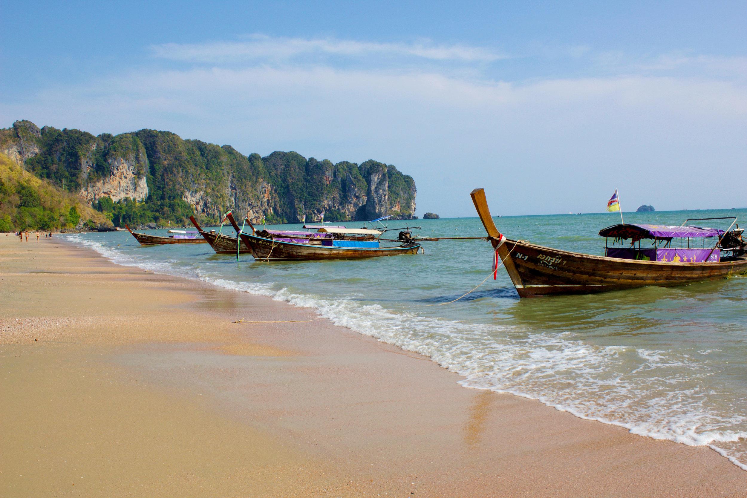 The beach in Ao Nang
