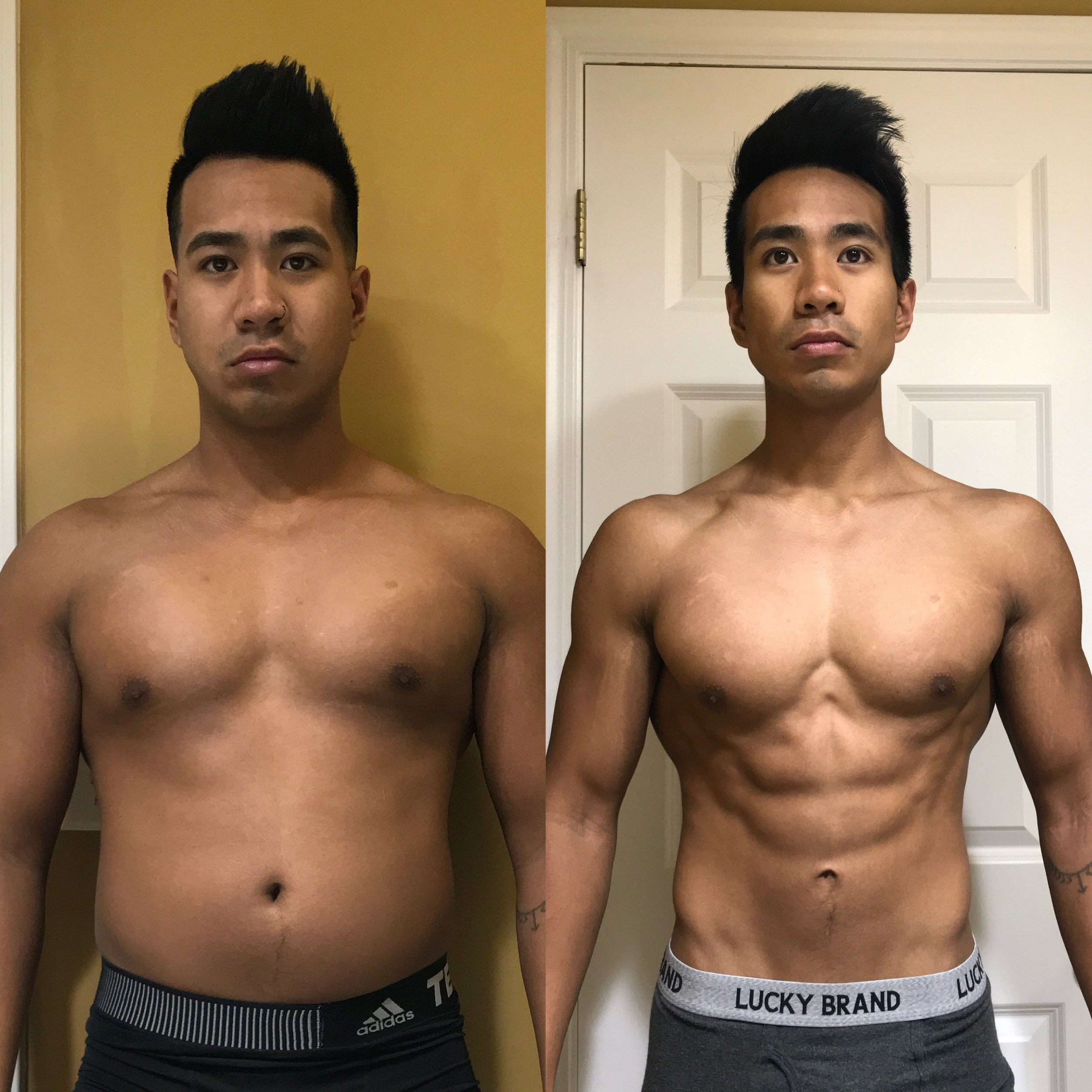 I began working with David after 4+ years of training on my own. I had made some successful gains through trial and error, but at the end of my last bulk, in which I weighed the heaviest i've ever weighed, I felt like I needed someone to help me loose fat, and maintain muscle. I was looking for someone who not only was interested in helping others, but comes from a scientific approach, and does only what is necessary. No BS, just science and patience. David provides exactly that.   A few weeks into coaching with David, and I felt on top of the world. So much, I decided to prep for my first Men's Physique competition. David did a phenomenal job preparing me for this moment. He adjusted only when needed, provided all the information I needed to know, and stayed on top of my physique heading into the show. Working with David has really changed the game for me. I never thought i'd have the physique i've achieved with David's help. Oh, and not to mention, he takes a diet approach in which allowed me to eat pizza, ice cream, and cookies while prepping for my show. How's that sound? ;)  I will definitely turn to David for my next prep. He is someone you can trust, someone who CONTINUES to do his research, and will never stop learning about health & fitness. This is something you should look for in a coach. Incredibly blessed to have worked with David!