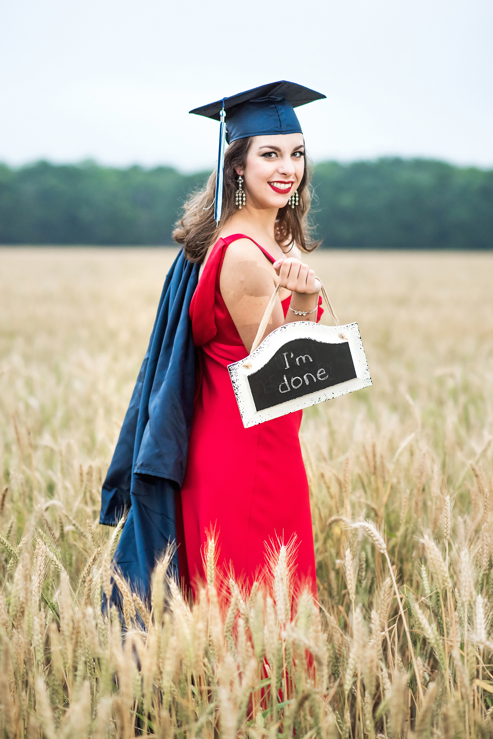 high school senior pictures chalkboard - boquet beach portraits - silverhill, alabama - wheat field