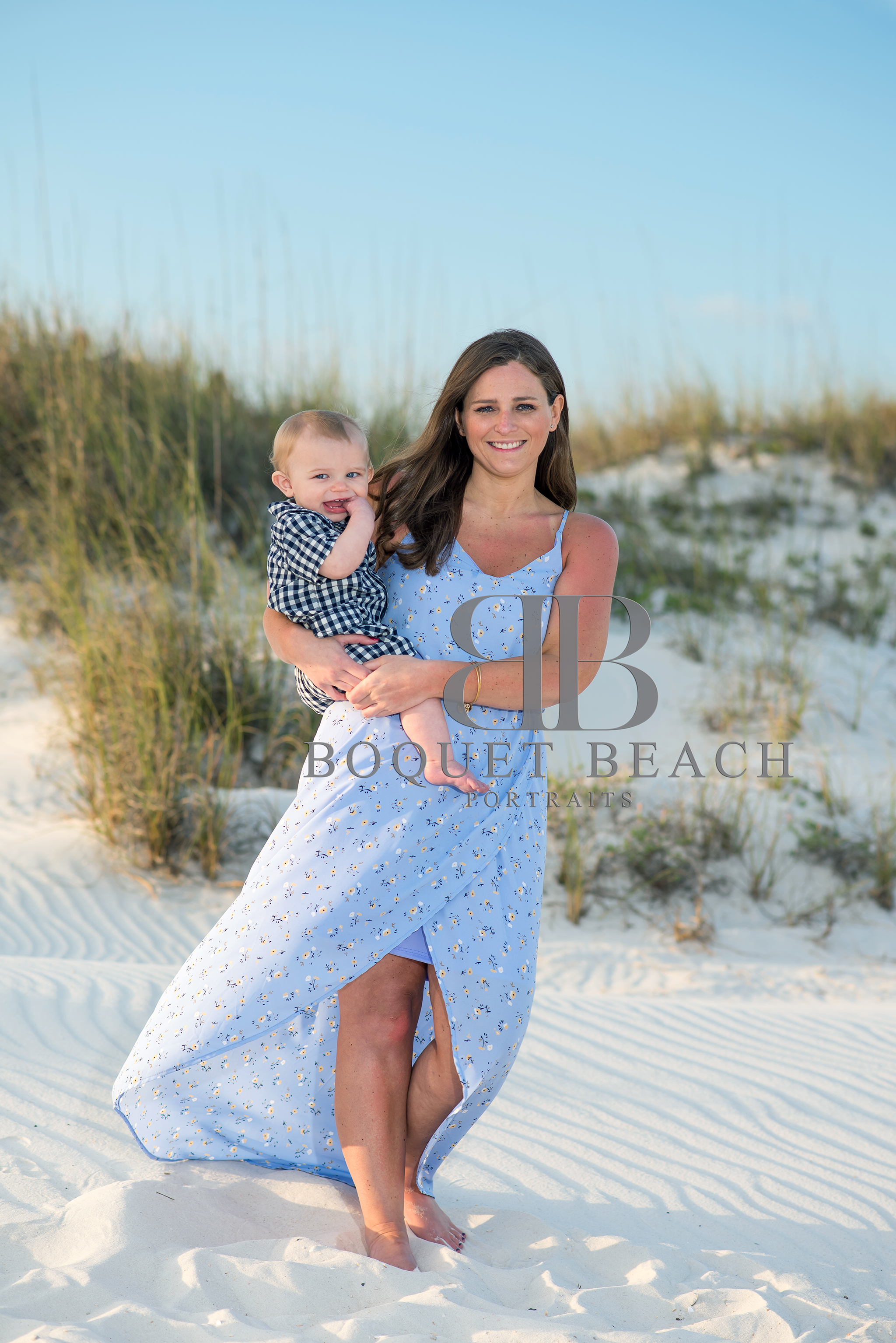 Mom and baby beach pictures at the Perdido Pass in Orange Beach, Alabama