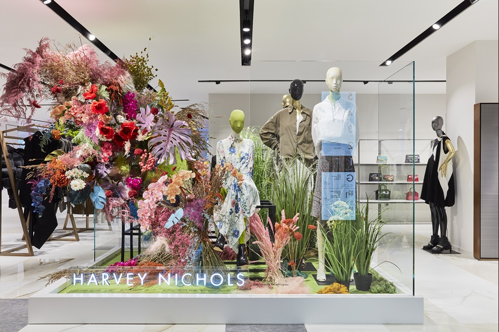HARVEY NICHOLS  We also created this burst of colour for the launch of the new womenswear floor at Harvey Nichols