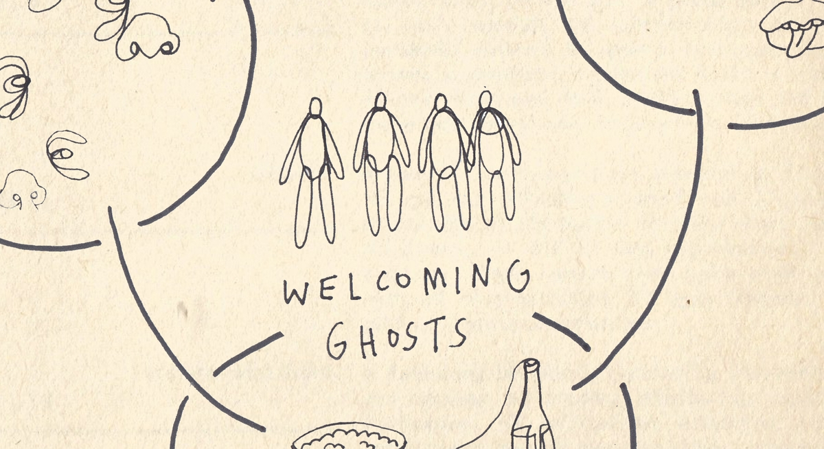 Welcoming Ghosts illustration by Joy Miessi.
