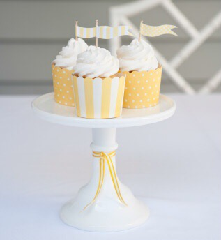 Yellow Party Baking Cups