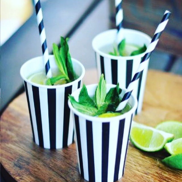 Black and White Party Cups