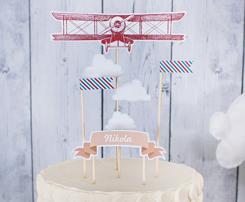 Time Flies Cake Topper