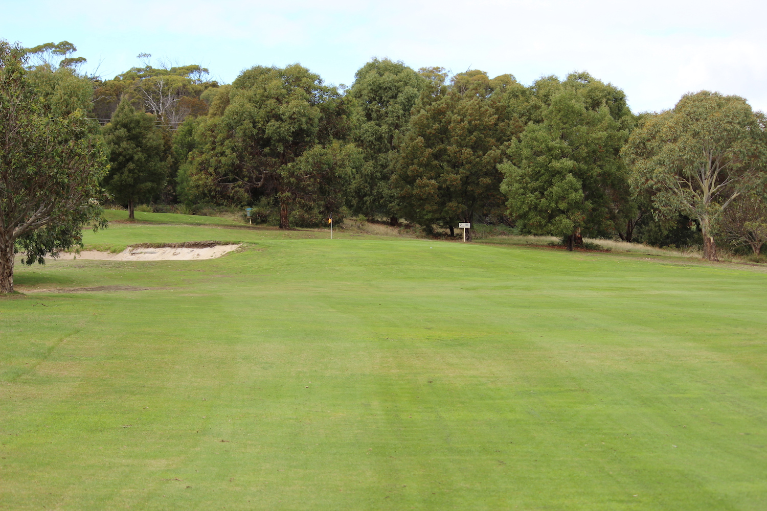 Hole 4    A challenging hole going up hill to a split level green cut into the hill side which is protected with a deep bunker on the left front.    Men: 375 metres, Par 4, Stroke Index 3/21   Ladies: 315 metres, Par 4, Stroke Index 3/21