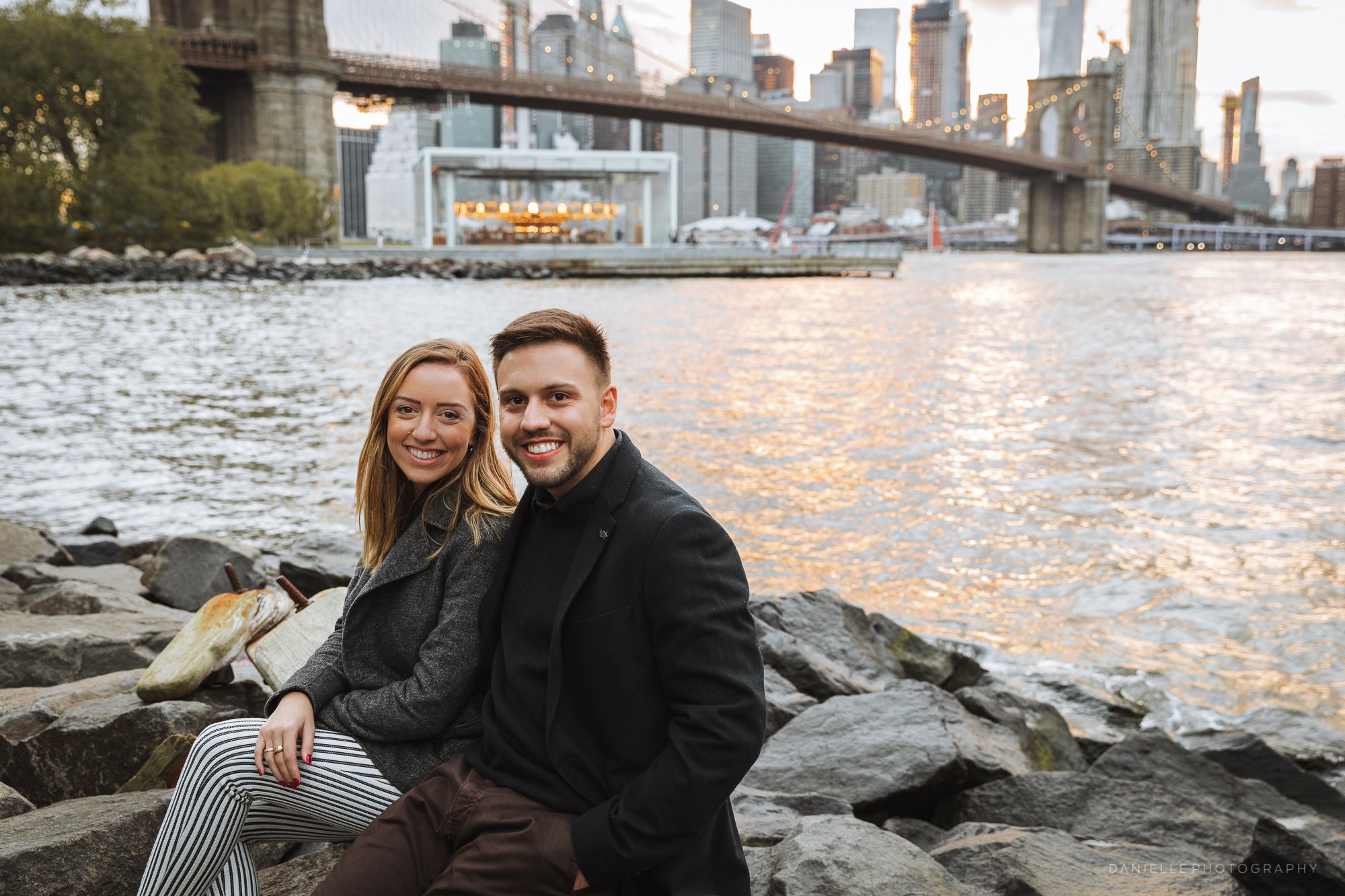 Live proposal in Dumbo, Brooklyn: She said Yes! @DaniellePhotographySa