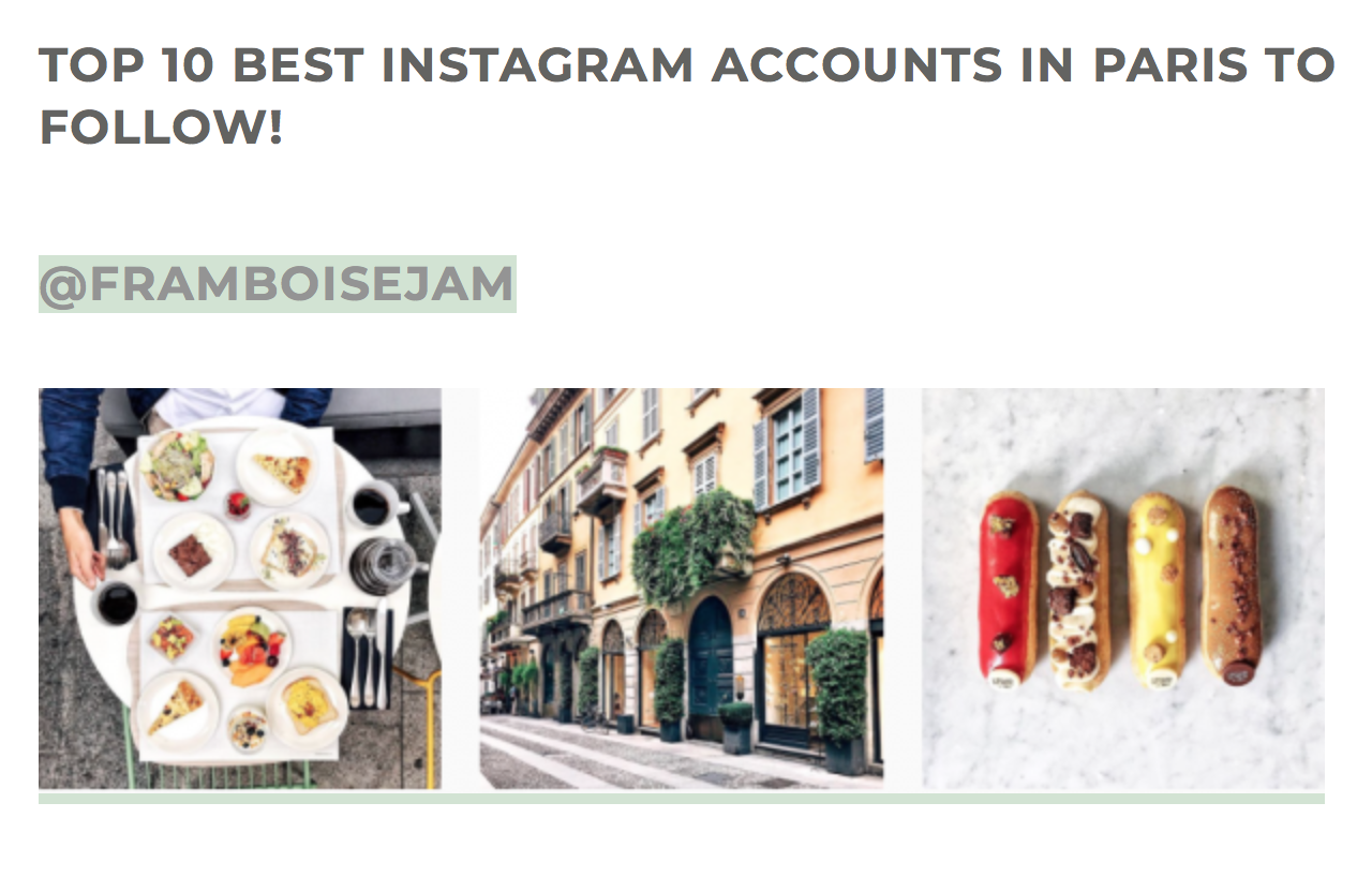 TOP 10 MOST INSPIRING ACCOUNTS IN PARIS TO FOLLOW