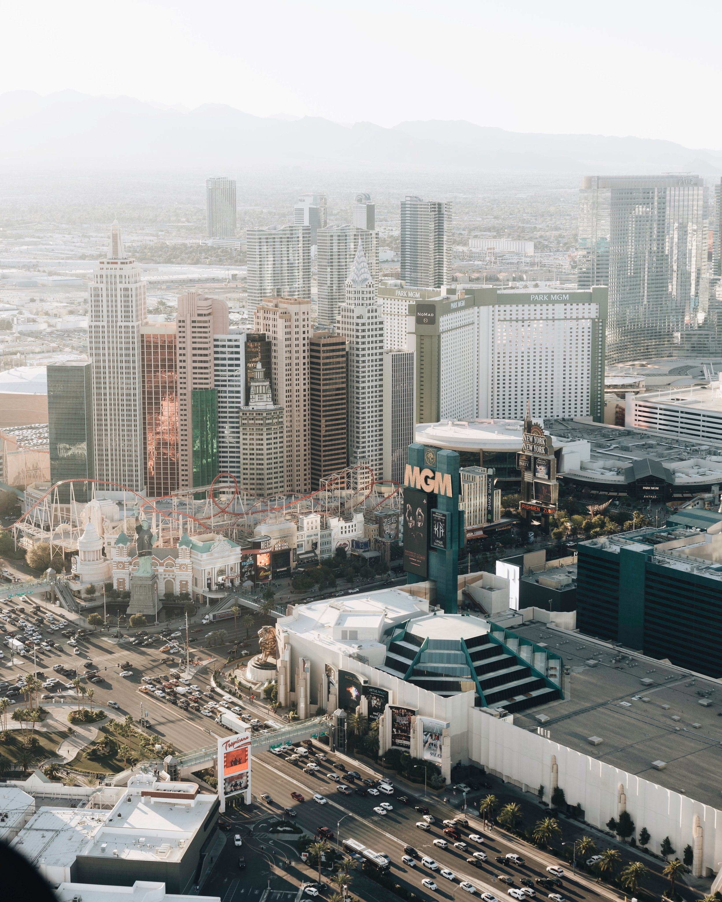 Vegas from above -