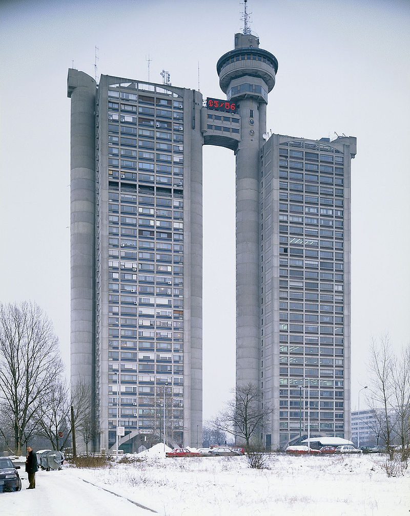 Western Gate of Belgrade in Novi Beograd. Also known at present as Genex Tower.