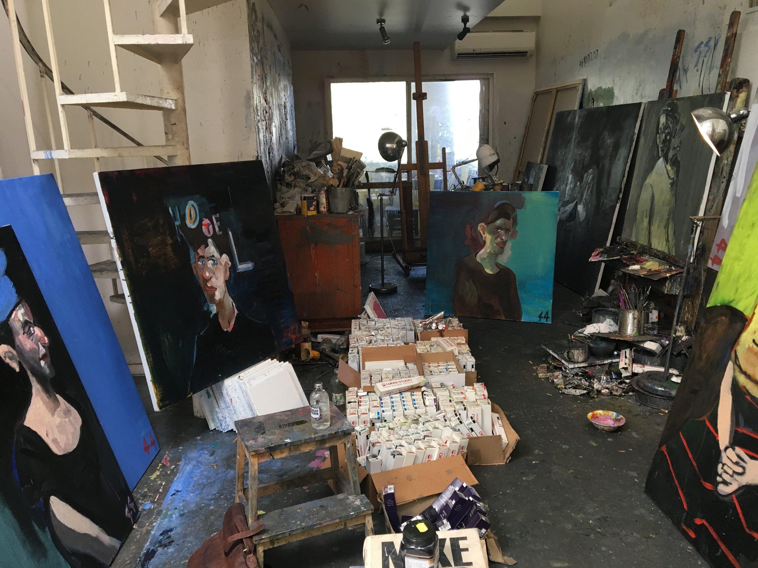 Mclean Edwards' studio in Sydney