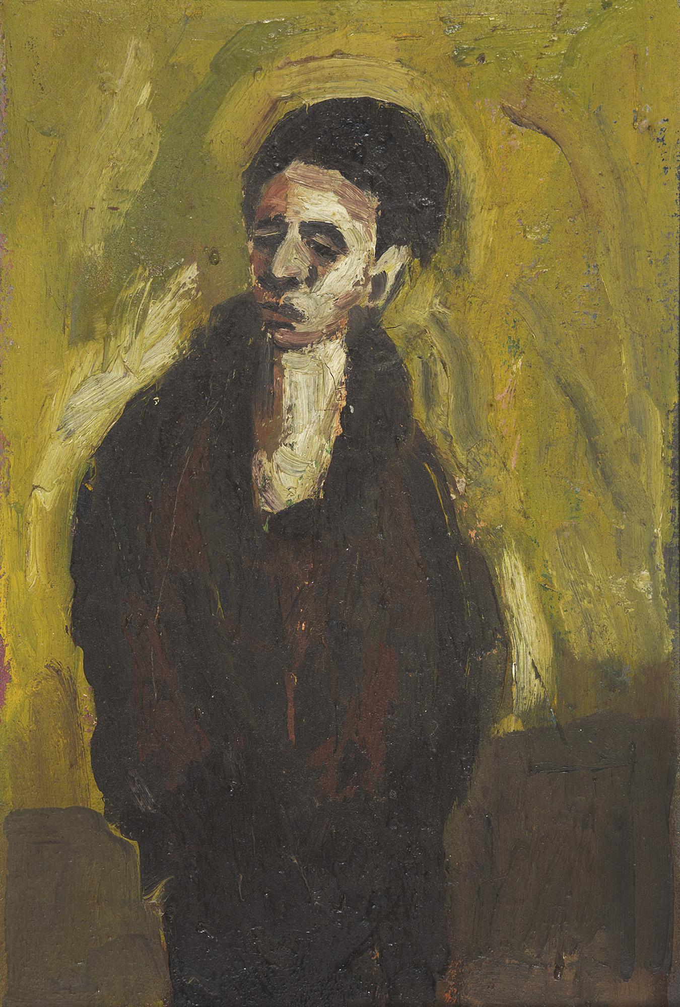 Brett Whiteley, (1939-1992), Figure Of A Young Man 1958, oil on board