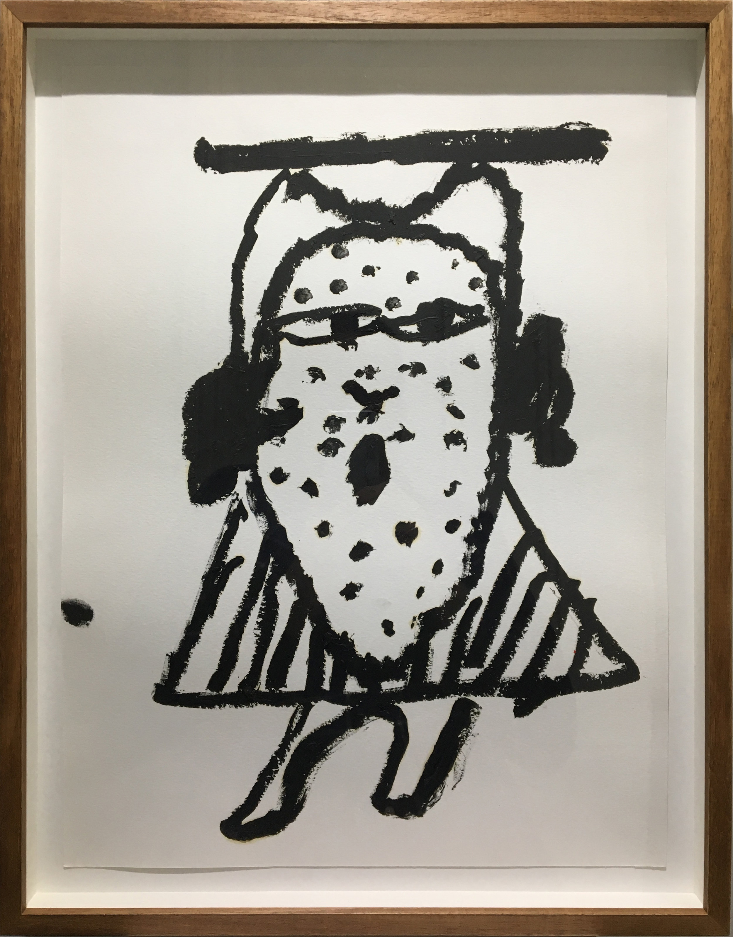 Tom Polo, The Most Elaborate Disguise (15), 2016, oil stick on paper.