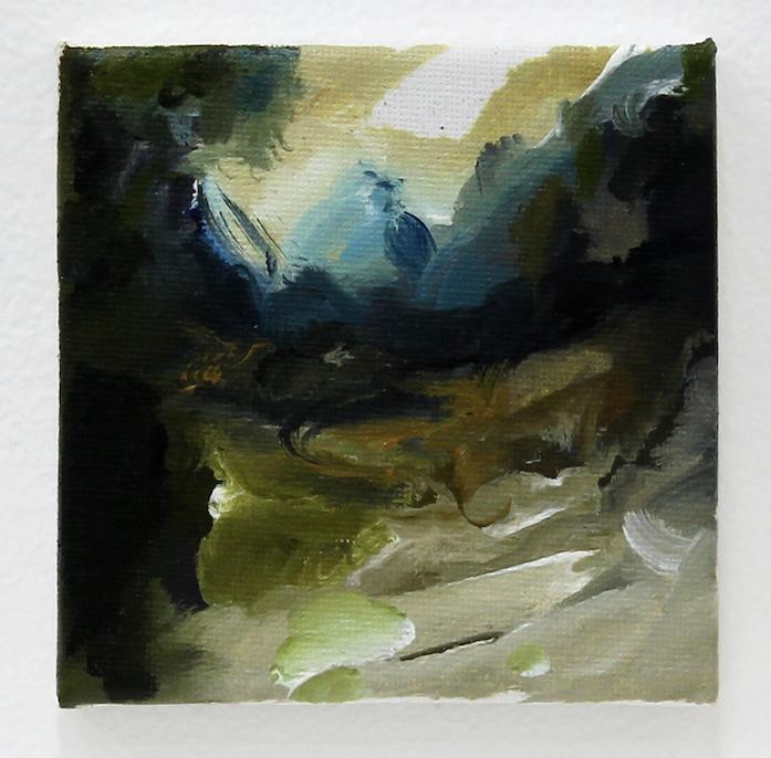 A hamlet in Bourtangermoor (Emmer-Erfscheidenveen), 2015, oil on canvas