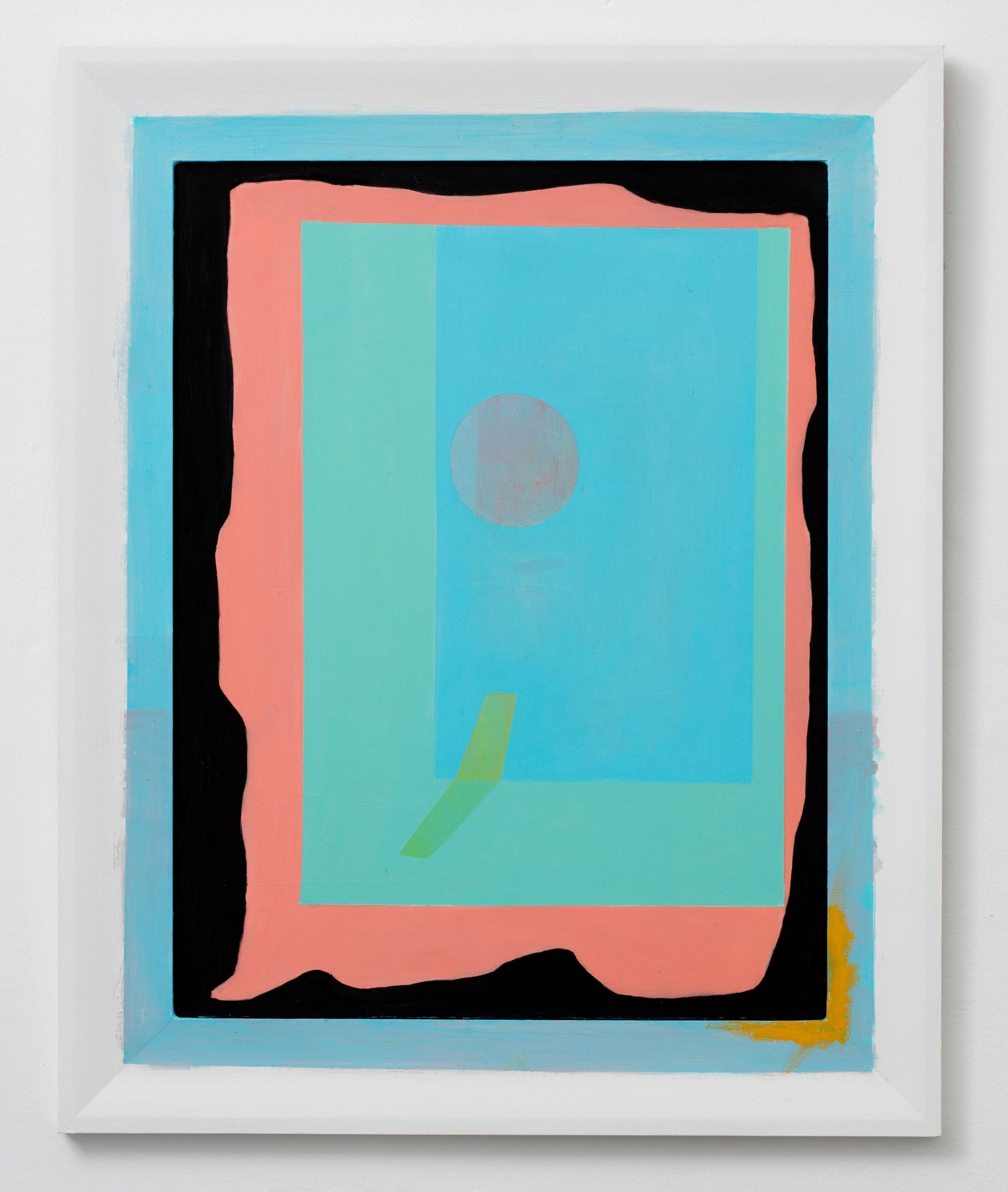 Saskia Leek, Untitled 2016, oil and gesso on aluminium board